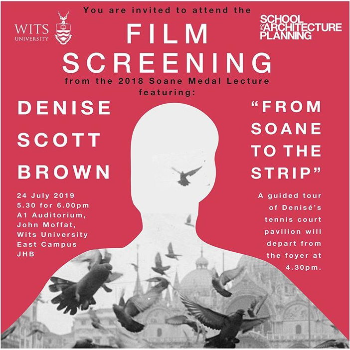 Heather Dodd speaks on panel after Denise Scott Brown film screening at Wits School of Architecture and Planning